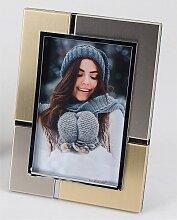 Bilderahmen, Fotorahmen SILBER GOLD für 10x15cm Fotos silber 19x14cm Formano (11,90 EUR / Stück)