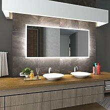 Bilderdepot24 Beleuchteter LED Spiegel Badspiegel Wandspiegel mit Beleuchtung - Stuttgart - 120x70 cm - LED