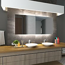 Bilderdepot24 Beleuchteter LED Spiegel Badspiegel Wandspiegel mit Beleuchtung - Dresden - 100x60 cm - LED