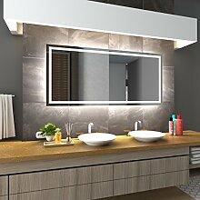 Bilderdepot24 Beleuchteter LED Spiegel Badspiegel Wandspiegel mit Beleuchtung - München - 90x60 cm - LED