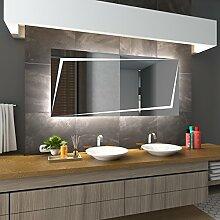 Bilderdepot24 Beleuchteter LED Spiegel Badspiegel Wandspiegel mit Beleuchtung - Stuttgart - 70x50 cm - LED
