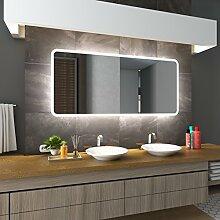Bilderdepot24 Beleuchteter LED Spiegel Badspiegel Wandspiegel mit Beleuchtung - Münster - 120x60 cm - LED