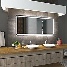 Bilderdepot24 Beleuchteter LED Spiegel Badspiegel Wandspiegel mit Beleuchtung - Duisburg - 105x75 cm - LED