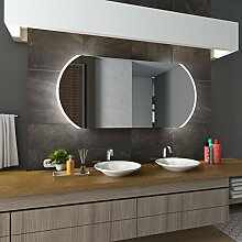 Bilderdepot24 Beleuchteter LED Spiegel Badspiegel Wandspiegel mit Beleuchtung - Köln - 105x75 cm - LED