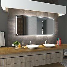 Bilderdepot24 Beleuchteter LED Spiegel Badspiegel Wandspiegel mit Beleuchtung - Frankfurt - 70x50 cm - LED