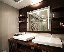 Bilderdepot24 Beleuchteter LED Wandspiegel Badspiegel Spiegel - 80x60 cm U-LED
