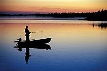 Bilderdepot24 Fototapete selbstklebend Angler in
