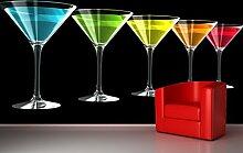 Bilderdepot24 Fototapete selbstklebend Cocktails