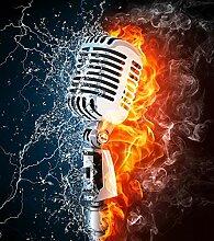 Bilderdepot24 Fototapete selbstklebend Mikrofon -