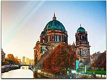Bilderdepot24 Glasbild Berliner Dom und Spree -
