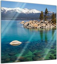 Bilderdepot24 Glasbild Lake Tahoe in den USA - 30