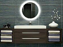 Bilderdepot24 Runder beleuchteter LED Spiegel Badspiegel Wandspiegel mit Beleuchtung - 80 cm O-LED_FI