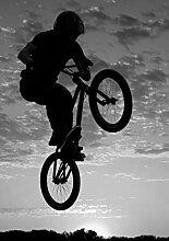 Bilderdepot24 Vlies Fototapete - Airborne Bike -