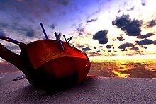 Bilderdepot24 Vlies Fototapete - Boot am Strand -