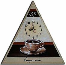 Bilderdepot24 Wanduhr - Kaffee Cappuccino - 50x50cm M 26