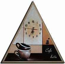 Bilderdepot24 Wanduhr - Kaffee Latte - 50x50cm M 27