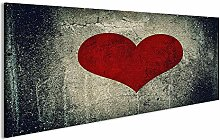 bilderfelix® Acrylglasbild Herz auf Beton Wand