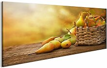 bilderfelix® Acrylglasbild Korb mit Birnen