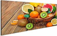 bilderfelix® Acrylglasbild Obst im Korb Glasbild