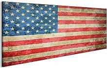 bilderfelix® Acrylglasbild USA Flagge Stars and
