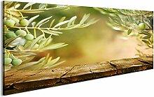 bilderfelix® Bild auf Acrylglas Holztisch mit