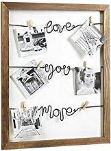 Bilderhalter Love Fotoleine mit Klammern aus Holz
