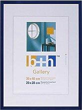 Bilderrahmen 30 x 40 blau Kunststoff, Echt-Glas