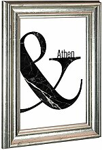 Bilderrahmen Athen 60x90cm Silber Antik