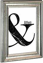 Bilderrahmen Athen in Silber Antik mit Acrylglas
