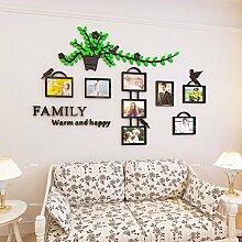 Bilderrahmen aufhängen Blume, stereoskopischen 3D-Wand frisch Lounge Schlafzimmer Zimmer in idyllischer Kreative fujieda Postern dekoriert sind, 160 * 105 cm, dunkelgrün