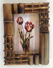 Bilderrahmen aus Bambus Design 3 a Holz Foto