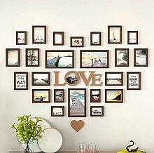 Bilderrahmen aus Holz in Herzform 12 Bilderrahmen
