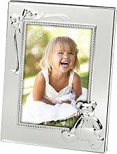Bilderrahmen Bär für 9x13cm Foto aus Silber
