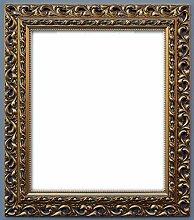 Bilderrahmen Barock Farbe Gold Holzrahmen 50x70 cm