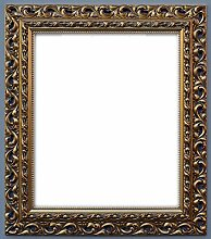 Bilderrahmen Barock Farbe Gold Holzrahmen 60x90 cm