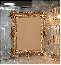 BILDERRAHMEN BAROCKRAHMEN mit GLAS 56x46cm