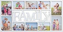 Bilderrahmen Collage Family Weiß - In 2 Größen