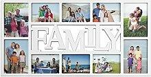 Bilderrahmen Collage Weiß - Familiy - Fotocollage