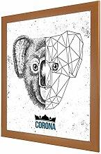 Bilderrahmen Corona in Kirschbaum (Dekor) mit