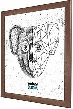 Bilderrahmen Corona in Kupfer Rost mit Acrylglas