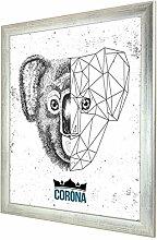 Bilderrahmen Corona in Metallglanz mit Acrylglas