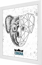 Bilderrahmen Corona in Weiß (Matt) mit Acrylglas