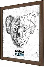 Bilderrahmen Corona in Wenge (Dekor) mit Acrylglas