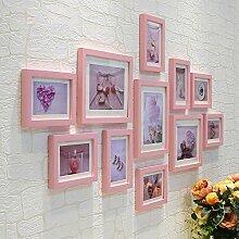 Bilderrahmen* Die Bilder im Wohnzimmer an der Wand Dekoration Wandrahmen wand Kombination von kreativen Foto an der Wand, Rosa