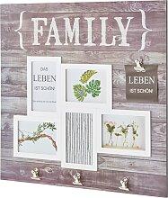 Bilderrahmen Family mit Clipsen, grau