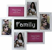 Bilderrahmen Family weiß für 6 Fotos Fotorahmen