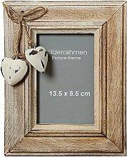 Bilderrahmen Fotorahmen mit Holzherzen 24cm