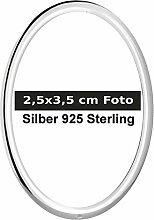 Bilderrahmen Fotorahmen oval 2,5x3,5 cm Foto 925