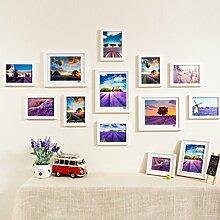 Bilderrahmen Fotowand Wand Wand Gemälde Massivholz Kreative Mode Wanduhr Watch Foto Wand Fotorahmen ( Farbe : C )