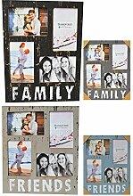 Bilderrahmen FRIENDS/FAMILY für 4, 10x15 Fotos,